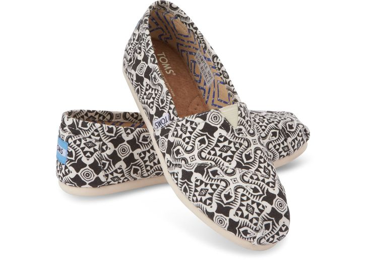 We are all about the TOMS Black Kaleidoscope Canvas Women's Classics always...