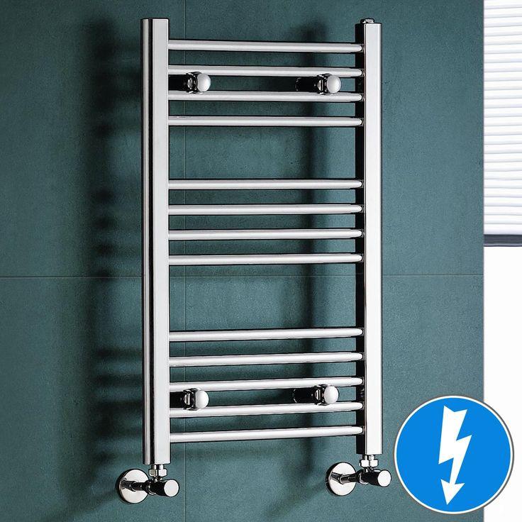 Electric Towel Rail Natasha Chrome Straight Radiator