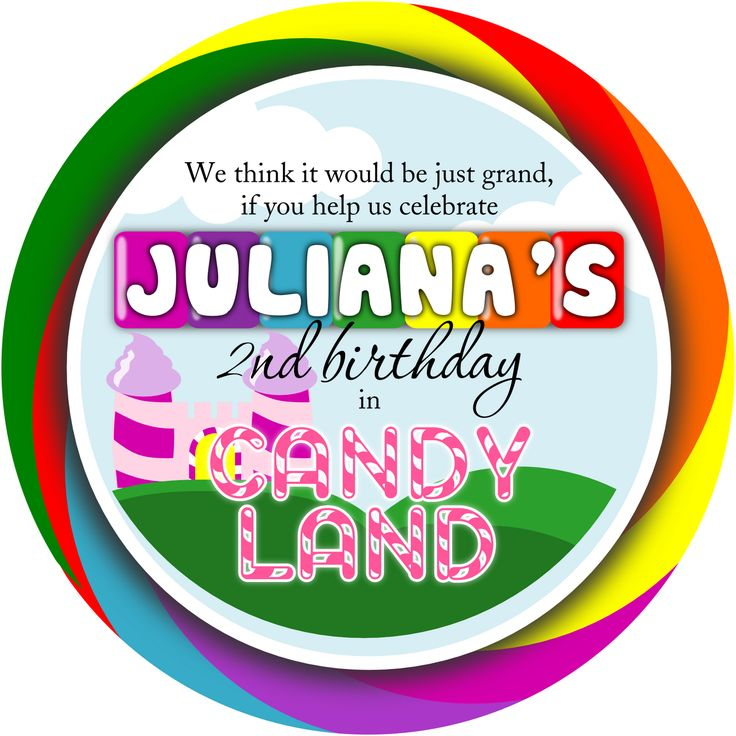 candy land invitation template free - Google Search | Sweet ...