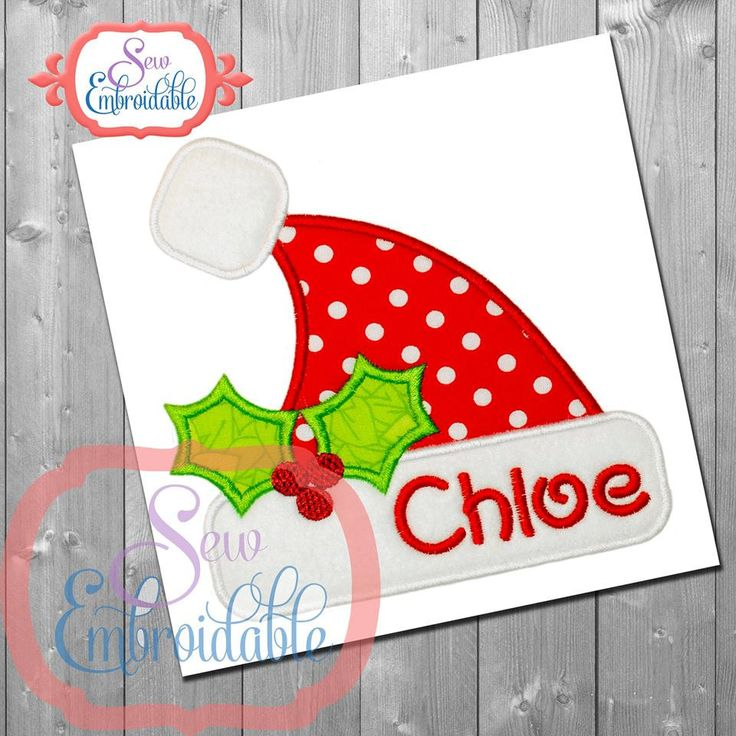 Santa Hat Christmas Design For Machine Embroidery...