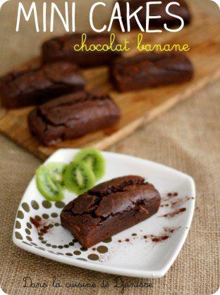 Mini cakes chocolat banane VEGAN