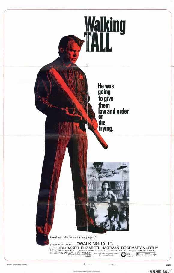 Walking Tall (1973) An astonishing, action-packed thriller, the critical and box office sensation Walking Tall stars Joe Don Baker (The Dukes Of Hazzard) as Buford Pusser, the tall, no nonsense sherif