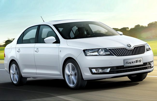 #Skoda has introduced a new Rapid at the 2013 Shanghai Auto Show. The car will be launched by April in China, and it will be its fourth model for the Chinese market. The new compact saloon comes with ample room, elegant design, great value, high value of safety and economical engines. The new Skoda Rapid Xin Rui is the company's show-stopper at the Shanghai Auto Show 2013.