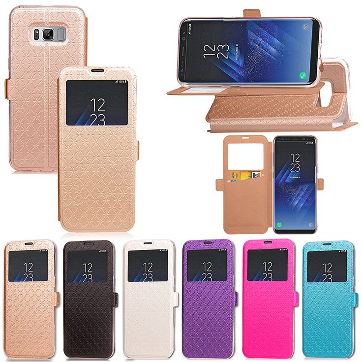 >> Click to Buy << For Samsung Galaxy S8 Case With Window View PU Leather Wallet Stand Flip Case Cover For Samsung Galaxy S8 Phone Case Bag fundas #Affiliate