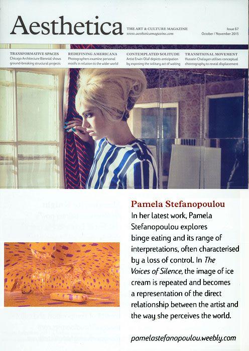 Aesthetica Magazine-The Art & Culture magazine # UK-USA-EUROPE # issue October / November 2015.