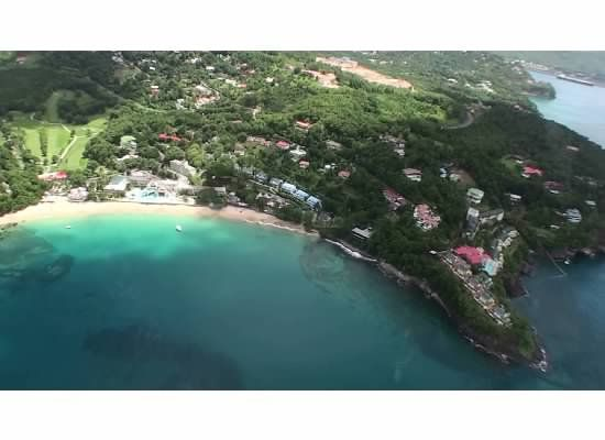 Aerial View Of Sandals La Toc Taken From Helicopter