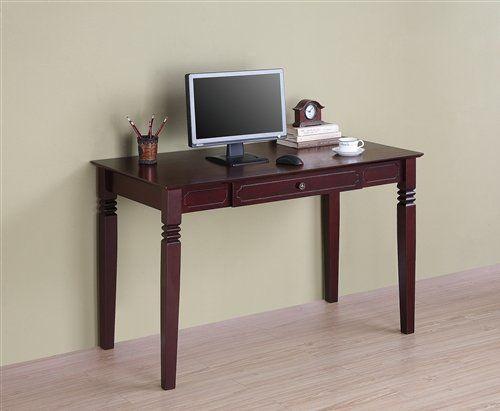 modern walnut solid wood desk with keyboard tray by walker edison