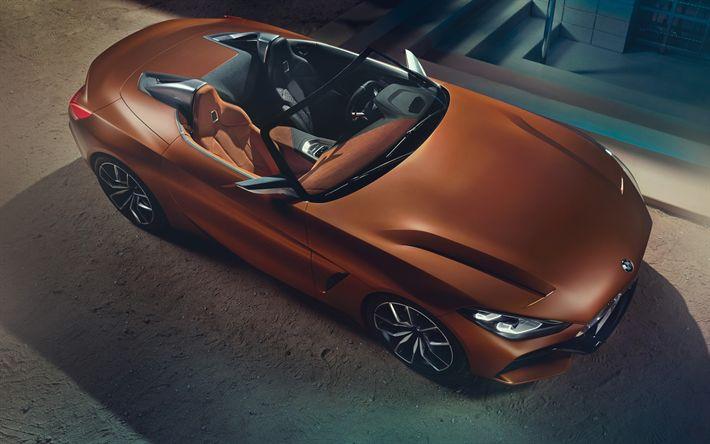 Lataa kuva BMW Concept Z4, superautot, 2017 autot, pronssi z4, roadster, BMW