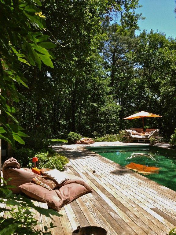 Location vacances villa Biscarrosse: Terrasse Sud 3 et Est