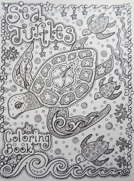 Sea TuRtLEs Coloring Book You be the ARTIST Fun Zentangle Style