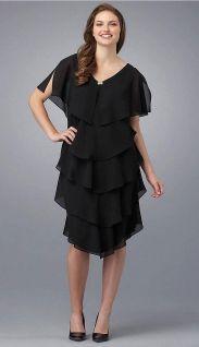 черное коктейльное платье в стиле Чикаго 20х годов