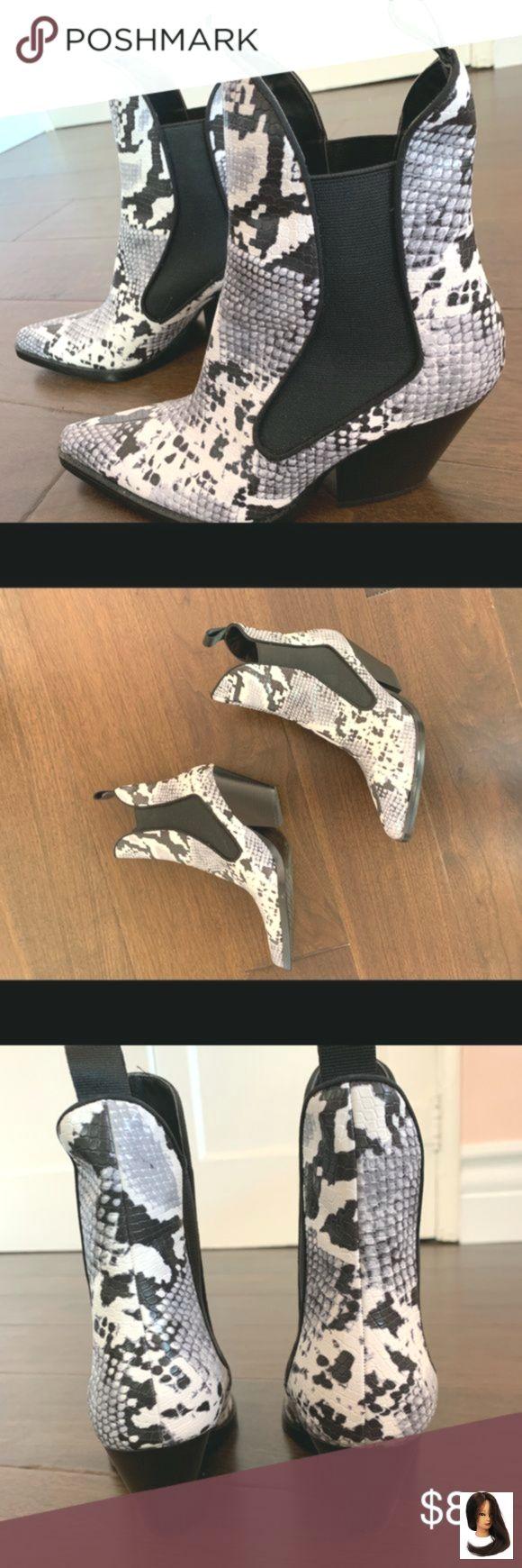 Zara Snakeskin Chelsea-Westernstiefel 38 Zara Snakeskin-Stiefel diese sind scharf. ich