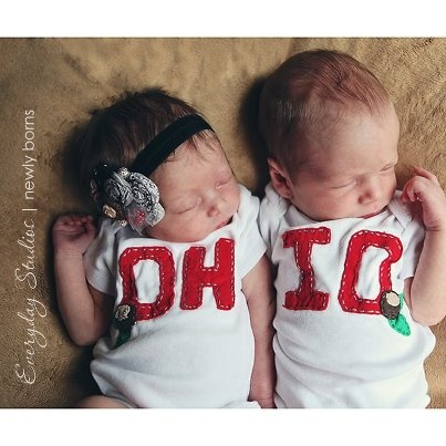 Twins. I don't like Ohio State but this is adorable
