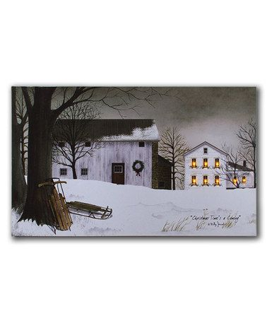 Another great find on #zulily! Large Christmas Windows Lighted Wrapped Canvas #zulilyfinds