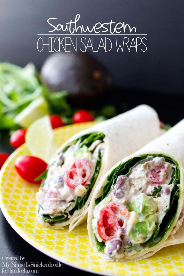 Southwestern Chicken Salad Wrap Recipe - Powered by @ultimaterecipe