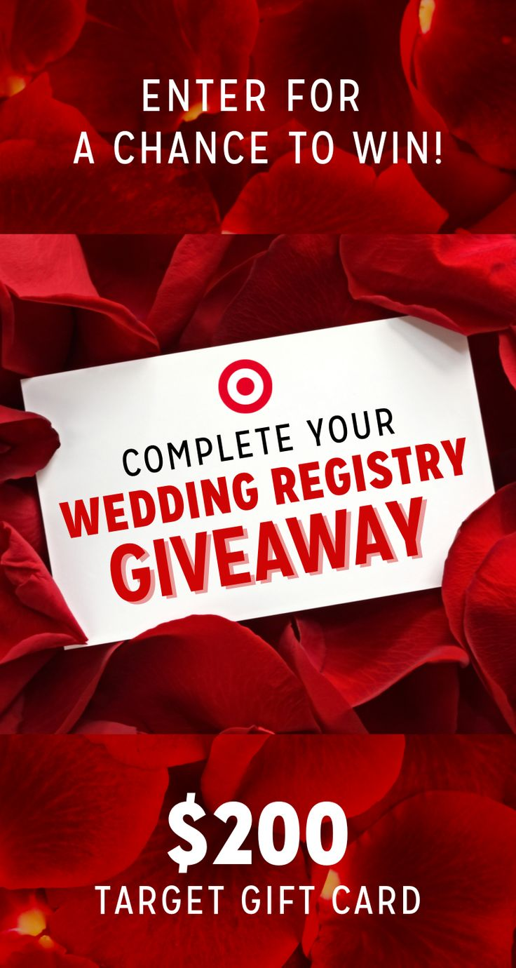 Target Wedding Registry Giveaway Enter to win a 200