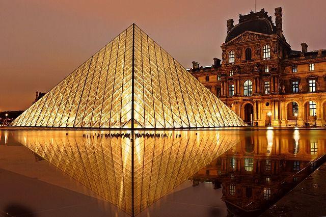 louvre, pyramid, paris