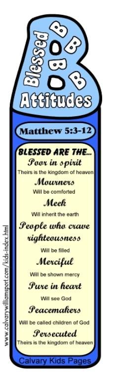 beatitudes bookmark