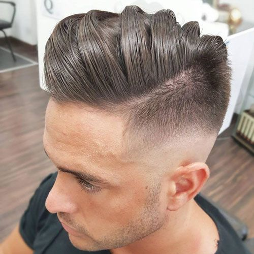 Mid Skin Fade with Thick Comb Over
