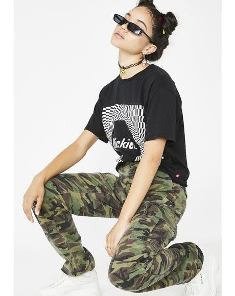 1a148bd1497 Forest Camouflage Utility Pants  dollskill  dickies  girl  camo  pants   utility