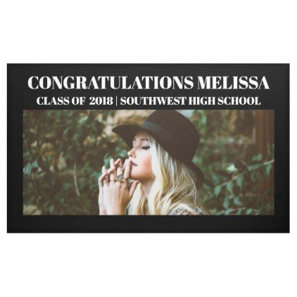 Congratulations Graduate Photo | Black Background Banner - photo gifts cyo photos personalize