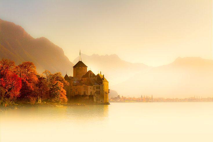 Chateau Chillon i Schweiz #chateau #chillon #chateauchillon #castle #slott #schweiz #switzerland