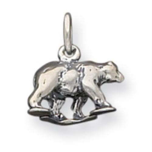 Sterling Silver Bear Charm goldia. $18.49