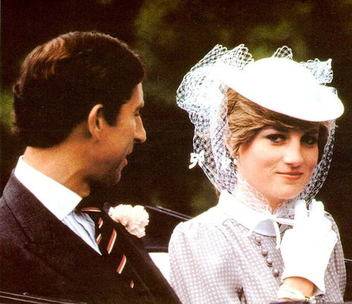 Princess Diana and Prince Charles during the engagement period