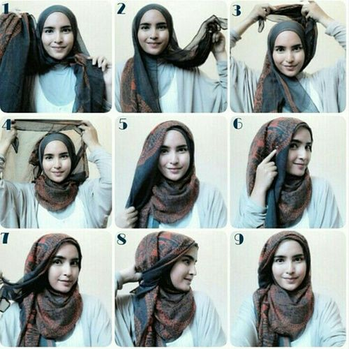 รูปภาพ hijab, muslim, and tutorial