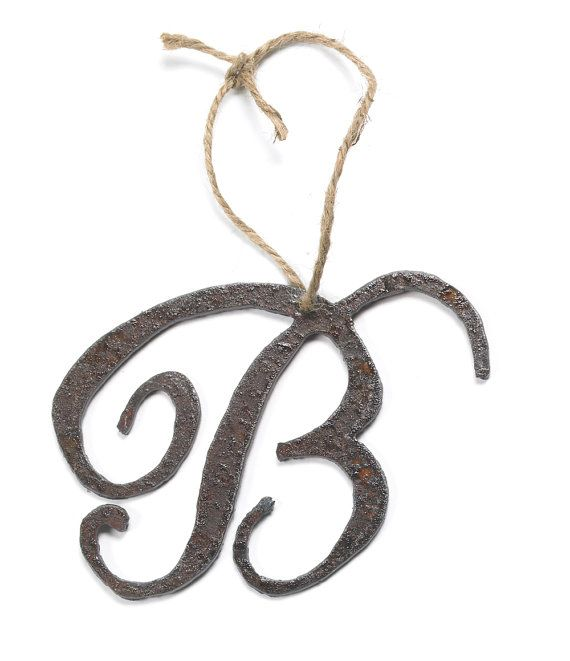 personalized monogram letter ornament by shopgatski on etsy 1650 handmade with reclaimed