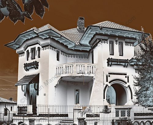 Neoromanesc home in Targoviste, Romania.