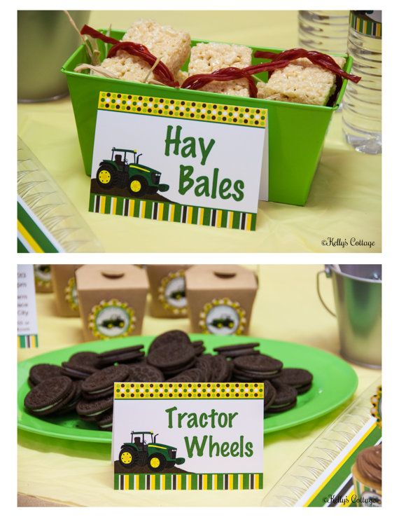Tractor Birthday Party Labels Instant by KellysCottageShoppe, $3.50