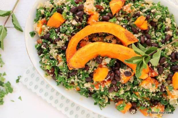 Couscous met pompoen en boerenkool - Mind Your Feed