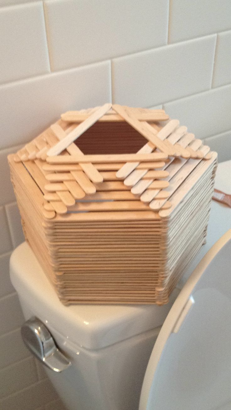 DIY Popsicle stick tissue box holderGrange Ideas, 10801920 Pixel