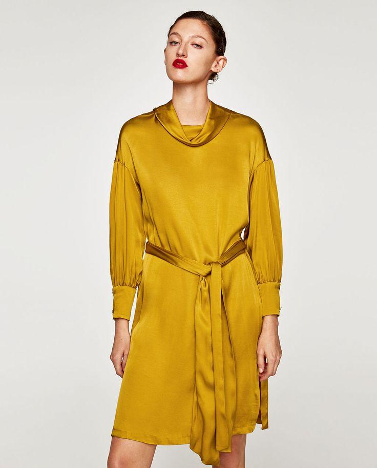 ZARA - WOMAN - SATIN DRESS WITH BELT