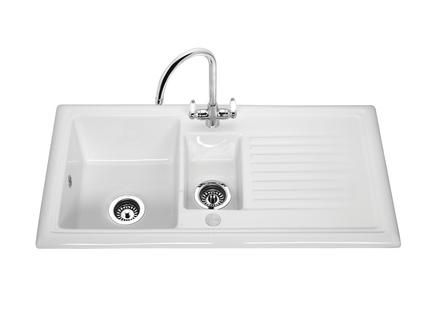 Howdens Lamona ceramic 1.5 bowl sink