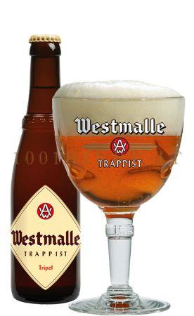 Beer Westmalle Tripel, Westmalle Brewery, Belgium.