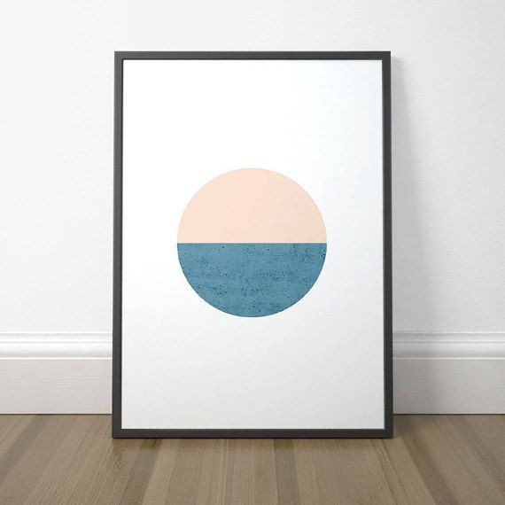 Modern Abstract Printable, Scandinavian Circle Print, Modern Circle Printable Art, Minimalist Circle Art, Instant Download, Digital Print