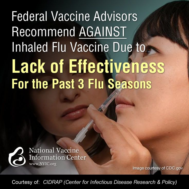 CDC's federal vaccine advisory board recommend against using FluMist nasal flu vaccine due to lack of effectiveness during the past 3 flu seasons.