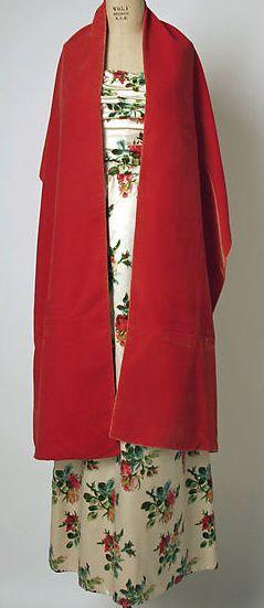 Balenciaga - Vintage - Veste Longue sur Robe Fleurie - Soie - 1960