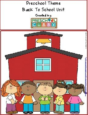 Back to School Preschool resource which  includes a completed, weekly lesson plan form with detailed daily planning forms, games and more!