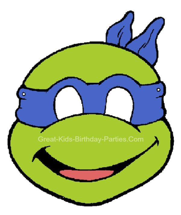 free printable kids halloween masks teenage mutant ninja turtles mask - Kids Halloween Masks
