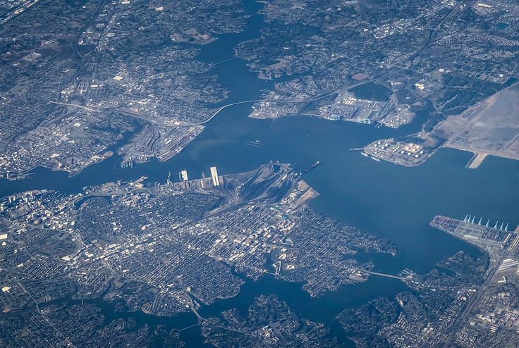 https://flic.kr/p/21T4fYb   Aerial view of Norfolk VA and Hampton Roads area   Aerial view of Norfolk VA and Hampton Roads area
