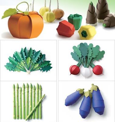 Paper Crafting Toys, Colorful Veggie Papercraft | Papercraft Paradise | PaperCrafts | Paper Models | Card Models
