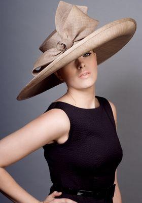 Grazia straw sidesweep hat with bow Rachel Trevor-Morgan