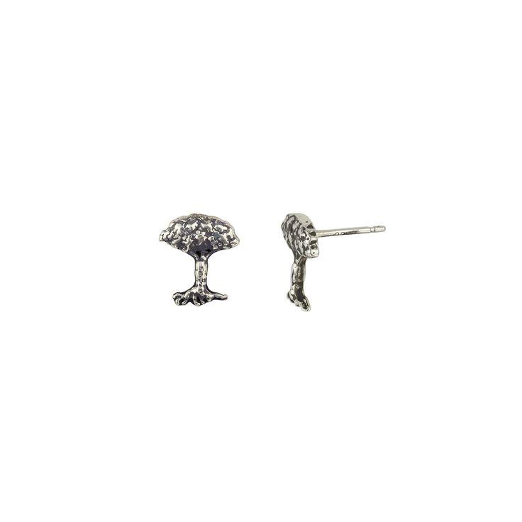 Tree Symbol Single Stud Earring