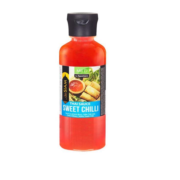 La salsa de Chili Dulce es una salsa elaborada con chiles dulces triturados y ajo. Perfecta para acompañar rollitos de primavera o pan de gambas. #salsasgourmet