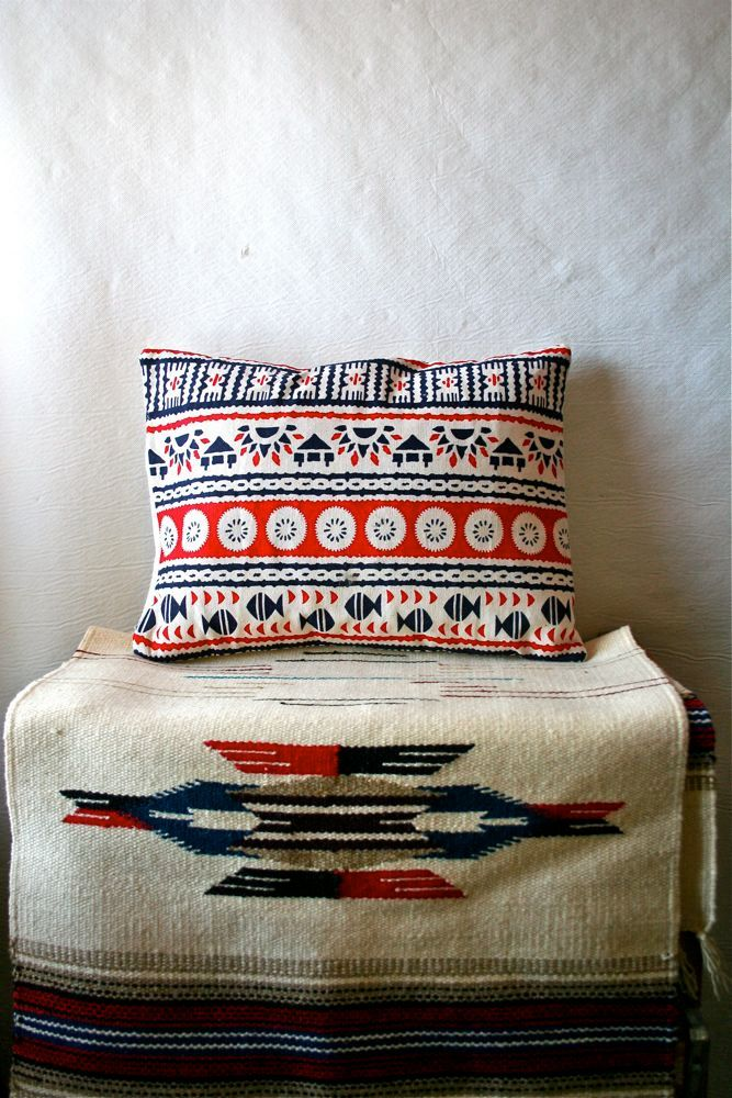 Native American Hand Made Vintage Fabric Pillow.