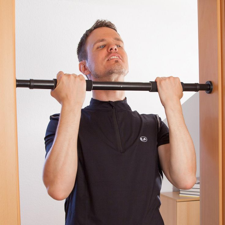 ultrasport 2way pullup bar adjustable to doors with a width of 635 93 cm pullup bar made of sturdy steel max user weight up to 100