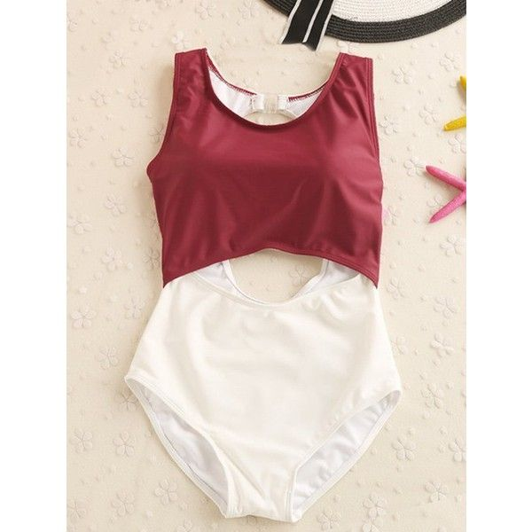 Cut Out Push Up One Piece Swimwear ($18) ❤ liked on Polyvore featuring swimwear, one-piece swimsuits, push up one piece swimwear, cut out swimsuit, 1 piece swimsuit and cut-out one piece swimsuits